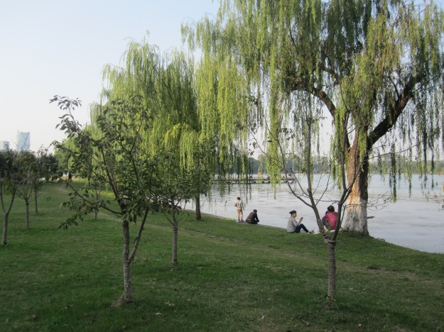 Xuanwu Lake, Nanjing. - A picture of a scenic site in China without another person on it taking a picture of the same spot? Impossible, I thought.